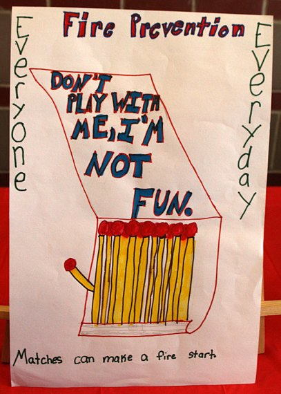Michaela Turecek of Maple Hill School won second place for fourth grade in the borough's fire prevention poster contest.