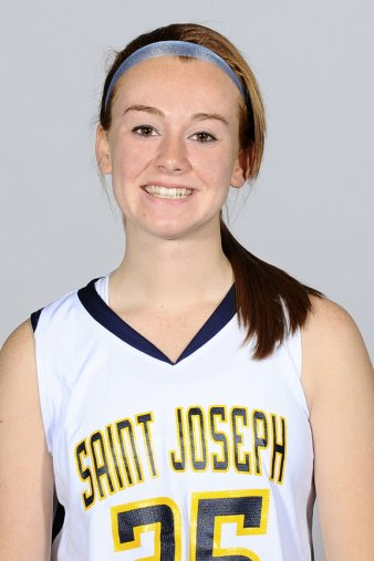 Lindsay Feducia, a former All-Naugatuck Valley League Brass Division point guard at Woodland, is in her freshman year at St. Joseph College. - ST. JOSEPH COLLEGE ATHLETICS