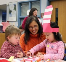 The Beacon Falls Library and members of Laurel Ledge Elementary School's Kids Care Club hosted a special preschool storytime March 1 at Laurel Ledge to celebrate Dr. Seuss' birthday. –ELIO GUGLIOTTI