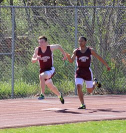 Naugatuck, Woodland, and Crosby faced off in a tri-meet April 16 in Naugatuck. Woodland topped Naugatuck 97.5-52.5 and Crosby 111-39. – LUKE MARSHALL