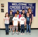 Fifth graders from Cross Street Intermediate School in Naugatuck, back row from left, James Roberts Anushka Jami, Hailey Marquardt, front row from left, Andreas Maldonado, Gianna Viele, and Haley Wolfanger, pictured with fifth-grade math teacher Kathy Mucha, competed in the Noetic Learning Math Contest on April 12. All of them received National Honorable Mention for being in the top 50 percent of the 12,630 students who participated. The test consisted of advanced word problems that the students had 45 minutes to complete. Jami was the overall winner of the Cross Street team. – Photo by Luke Marshall