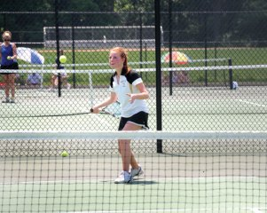 Woodland Girls Tennis played against St. Paul in the opening round of the Class S tournament on Tuesday at Woodland.