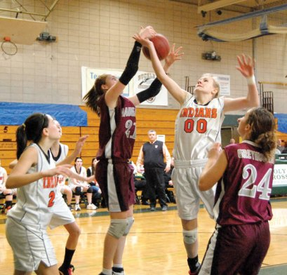 The Greyhounds overcame an 11 point deficit with 6:16 to play in the NVL quarterfinals Feb. 18 to force overtime. Naugatuck went on to defeat Watertown in overtime. -FILE PHOTO