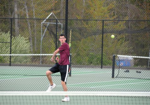 Coaches Brian Mariano and Tony Loomis led a Naugatuck tennis resurgence this spring as the boys on the Copper Division. -FILE PHOTO