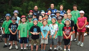 Beacon Falls Cub Scout Pack 2010 participated in a bike rodeo Aug. 20, which was run by Beacon Falls Police Officer Caroline O'Bar with help from Officer Greg Gallo and Naugatuck police Officer Ryan Burns. The officers taught the children bike safety, checked for proper helmet fitting, and the scouts rode through an obstacle course. -CONTRIBUTED