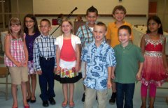 The Naugatuck Board of Education recognized some Andrew Avenue School students at its Sept. 13 meeting for doing well on the Connecticut Mastery Test. Andrew Avenue School students, from left, Jayden Noble, MacKenzie Mahoney, Adrienne Laviolette, Sammy Vasile, Raymond Mastropietro, Jonathan Chatfield, Justin Stone, David Deforge, Justin Barth, and Arshjott Bhangu. Not pictured, Guilherme Nunes and Rafael Viana. –CONTRIBUTED
