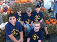 Prospect Cub Scout Pack 27 assisted in unloading pumpkins for St. Anthony Church's annual Pumpkin Patch Oct. 5. Pictured, front row from left, Robby Cavallo and Michale Jankowsky. Back row from left, Zachary Telesco, Nicholas Santovasi, and Josh Pavlik. -CONTRIBUTED