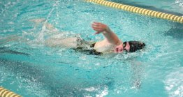 Woodland's Whitney Stow does the freestyle during the 200 individual medley versus Kennedy Oct. 22 in Beacon Falls. –ELIO GUGLIOTTI