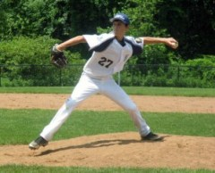 Dylan Cummings pitches for Prospect-Beacon Falls Posts 194-25 last summer. The team is taking preseason registration for the upcoming season. –FILE PHOTO