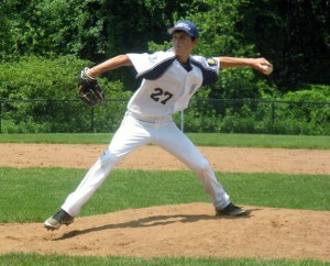 Dylan Cummings pitches for Prospect-Beacon Falls Posts 194-25 last summer. The team is showing signs of improvement early on this season. –FILE PHOTO