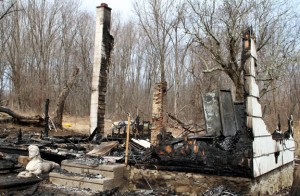 A fire destroyed a vacant home at 100 Hunters Mountain Road, or the end of Old Highway Road, in Naugatuck early Sunday morning. –RA ARCHIVE