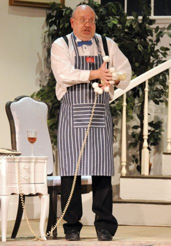 Tim Phillips of Naugatuck is playing the role of Ernie in Neil Simon's 'Rumors' at the Thomaston Opera House. Landmark Community Theatre will present a final weekend of the show, Friday and Saturday at 8 p.m. and Sunday at 2 p.m. Tickets are $23 for adults, and $19.50 for seniors and students. For tickets, visit the box office at 158 Main St., Thomaston, or visit www.landmarkcommunitytheatre.org. -CONTRIBUTED
