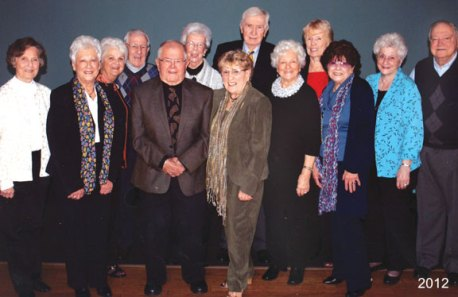 The Naugatuck High School Class of 1946 held its 65th reunion last October at Junipers Restaurant in Middlebury. Pictured, back row from left, Josephine Narducci, Domenic Narducci, Anne Byrne Schaeffer, Raymond Dowling and Mary Connolly. Front row from left, Cecil Szcziul Humphries, Loretta Mangine Loyer, Joseph Connolly, Laura Puleo Smith, Rosemary Mangine Augelli, Jane Ruccio Boyle, Jane Nardello Curina and Robert Curina. -CONTRIBUTED
