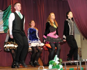 Dancers from the Horgan Academy of Irish Dance perform during the Naugatuck Ancient Order of Hibernians St. Patrick's event Sunday at the Naugatuck Portuguese Club. –LUKE MARSHALL