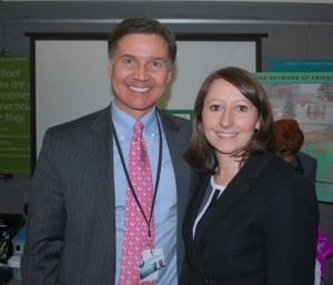 State Rep. Rosa Rebimbas (R-70) poses for a photo with Department of Energy and Environmental Protection Commissioner Dan Esty during the Friends of CT State Parks Day event at the Capitol earlier this week. –CONTRIBUTED