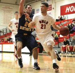 Former Naugatuck High basketball star Anthony Mariano averaged 12.2 points this season as a senior for Keene State and ended his career with over 1,000 points. –MICHELLE BERTHIAUME