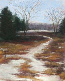 A pastel painting by Naugatuck artist Liz Monahan entitled 'Winter's End.' Fine Line Art Gallery is hosting an Open House Reception on April 6 to welcome three new Connecticut artists, including Liz Monahan of Naugatuck. The gallery is located at 319 Main St. South, Woodbury. Gallery hours are Thursday through Sunday from 11 a.m. to 4 p.m. –CONTRIBUTED