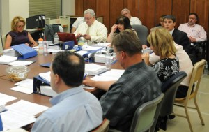 The Joint Boards of Finance and Mayor and Burgesses approved a $111.4 million 2013-14 budget proposal Monday night to send to a public hearing. –LUKE MARSHALL