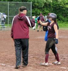 Naugatuck defeated Hall, 4-1, Tuesday afternoon during the first round of the Class LL softball tournament at Breen Field in Naugatuck. –ELIO GUGLIOTTI