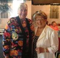 Joyce Saltman, professor emeritus at Southern Connecticut State University, poses with Naugatuck Woman's Club President Laura Smith at the club's meeting June 3, it's final meeting for the summer. Saltman gave a presentation on how laughter helps the body through stories and capped it off with a 'Hug and Giggle.' The club's next meeting will be Sept. 9. To be a guest at the September meeting, call Monica Desrochiers at (203) 729-9744 or Smith at (203) 749-4263. -CONTRIBUTED