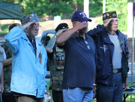 The Naugatuck POW/MIA Committee held a POW/MIA vigil Saturday on the Naugatuck Town Green. –ELIOGUGLIOTTI