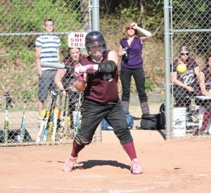 Naugatuck High junior Gillian Fortier earned All-State honors for the third straight season. Fortier produced 42 hits and hit .618 with 31 runs, 30 RBI and 10 stolen bases for the Greyhounds this year. –FILE PHOTO