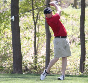 Naugatuck's Nick Tribanas led the Greyhounds with a 79 at the Naugatuck Valley League tournament May 31 at the Watertown Country Club and earned All-Copper Division honors. –FILE PHOTO