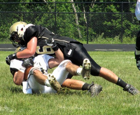 Woodland held its annual Black-White intrasquad scrimmage Saturday. –KYLE BRENNAN