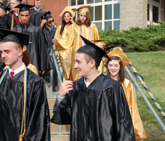 Woodland Regional High School's Class of 2013 graduated June 24 during a ceremony in the school's courtyard. –ELIO GUGLIOTTI