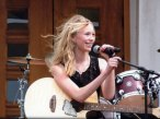 Kaylea Grandpre, 14 of Naugatuck, won the Branford on the Green amateur singing contest June 16. –CONTRIBUTED