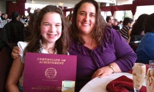 Laurel Ledge Elementary School student Payton Doiron, pictured with Principal Regina Murzak, received the South Central Superintendent's Association Student Recognition Award at a recent luncheon. The award is presented to students to acknowledge the achievement and contributions they have made in their school communities. –CONTRIBUTED