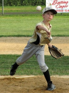 Dakota Palange delivers a pitch for the Beacon Falls future stars July 24 versus an all star team from Seymour at Pent Road Recreation Complex in Beacon Falls. –KYLE BRENNAN