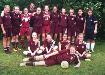 Naugy Chargers, a U13 Naugatuck girls soccer team, won the Guilford Soccerfest tournament the weekend of June 29. The tournament concluded the girls' last season playing together as they will head to high school in the fall. The team also took first place in the Clinton tournament earlier this season. Pictured, from the Clinton tournament, back row, Bridget Rosikiewicz, Erin Doris, Vanessa Cardenas, coach John Teixeira, Emily Galvao, Samantha Plourde, Alyana Sosa, Emily Wingard, Cindy Stirk, Felicity Berrios and goalie Tori Giacomazzo. Middle row, Cassidy Baranowski, Maci Best, Makayla Teixeira and Nicole Crowley. Laying in front is Erin Korowotny. –CONTRIBUTED