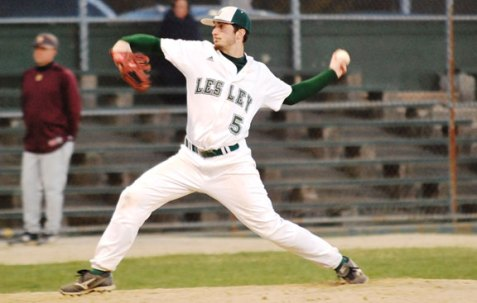 Former Woodland pitcher Ryan Genua led Lesley University in innings pitched and was 2-3 in six starts, earning All-NECC Honorable Mention for his efforts. -LESLEY ATHLETICS