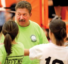 After 24 years with the program, Fred Scheithe retired from coaching Naugatuck High volleyball in 2012. –RA ARCHIVE