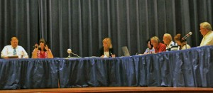 Naugatuck officials discuss a long-term strategic plan on borough government Aug. 22 at City Hill Middle School. –LUKE MARSHALL