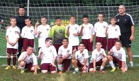 Naugatuck Extreme, a U12 boys soccer team, won the U12 division at the 28th Annual San Paio Soccer Spin Tournament Labor Day weekend. Pictured, standing from left, Connor Kusmit, assistant coach Victor Lavoura, Brian Silva, Zachary Koslosky, Brandon Sampaio, Alex Manasoiu, Nelson Lavoura, Dylan Gloden, Ethan Lopes and coach Glenn Connan. Kneeling, from left, Matt Smith, Michael Connan, Eduardo Garcia, Branden Lage, Fred Longo and Brian Portela. -CONTRIBUTED