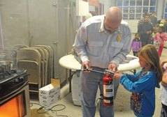 Beacon Hose Co. Number 1 hosted a fire prevention open house on Oct. 9 at the fire house in Beacon Falls as part of National Fire Prevention Week. The event featured a demonstration on the proper way to extinguish a grease fire, a live burn, and training on how to use a fire extinguisher for children. –LUKE MARSHALL