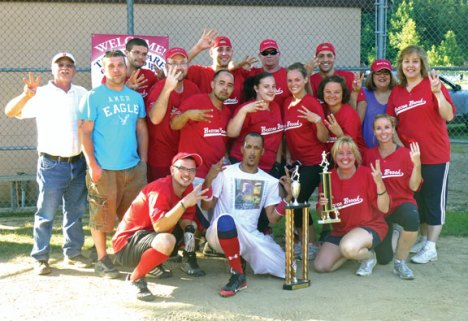 The Beacon Brook Health Center Bandits won the 2013 Athena Softball Tournament Aug. 25 in Southington for the third year in a row. The tournament raises money to assist employees with the financial burdens associated with battling cancer. –CONTRIBUTED