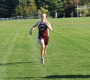 Naugatuck's Madison Beasley comes in first Oct. 1 at Seymour High School in 20 minutes, 9 seconds. The girls team in 7-1 on the season.  –LUKE MARSHALL