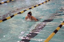 Naugatuck and Woodland faced off in the pool Oct. 4 in Beacon Falls. The Greyhounds won the meet, 99-79. –ELIO GUGLIOTTI