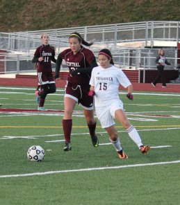 Naugatuck beat Bristol Central, 1-0, Nov. 4 during the opening round of the Class L tournament at Naugatuck High School. –ELIO GUGLIOTTI
