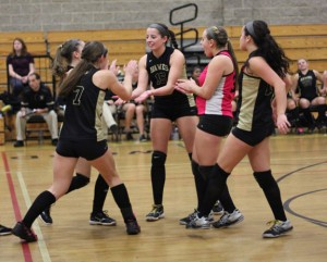The Woodland volleyball team is back in the Class M championship game after defeating Waterford, 3-1, Wednesday night. The final is set for 1 p.m. Saturday at Berlin High. –FILE PHOTO