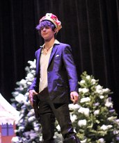 Naugatuck High School senior Alex Squires-Malec was crowned Mr. Greyhound Dec. 12 at the high school. – ELIO GUGLIOTTI