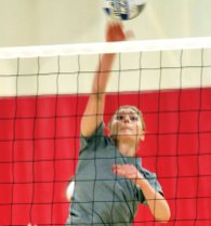 Jess Patrizi, a junior setter at Eastern Connecticut State University, was the Warriors' leading setter in her second season with the team. -ECSU
