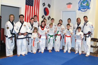 Beacon Falls Karate held a grading Dec. 13. All of the students received a grading up Master Daniels and Master Charland oversaw the competition. –CONTRIBUTED