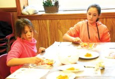 The Naugatuck Parks and Recreation Department hosted a vacation cooking class for children ages 9 to 13 on Dec. 30. The children made a variety of snacks, including a pizza pocket. –LUKE MARSHALL