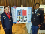 Lydia McGuiness and Latavia Wint, both of Nauagatuck, were honored by the Cheezic Tang Soo Do Karate Federation on Feb. 9 at the Aqua Turf in Southington. McGuiness and Wint were among 161 karate students and their families recognized who were current or former members of the United States military. –CONTRIBUTED