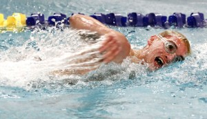 Naugatuck's Vinny Thoren was among three Greyhounds to finish in the top 10 of the100-yard freestyle at the Naugatuck Valley League swim finals March 7. Thoren also finished seventh overall in the 500 free in 1:58.52. Many of the Greyhounds swam personal best times at the meet as Naugatuck finished fourth as a team. –RA ARCHIVE
