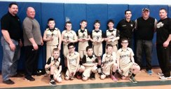 The Beacon Falls fourth grade travel basketball recently won second place in the Sal Tinari Basketball Tournament in East Haven. After an opening round loss to Hamden, the boys faced five straight elimination games winning the first four against Guilford, North Haven, Ulbrich (Wallingford) and then a come-from-behind win in a rematch versus Hamden. Head coach Chris Anderson said 'I am very proud of our boys for the never-give-up attitude and the fight that they displayed in this tournament. We just came up short in overtime of the championship game versus an excellent Branford team. The experience that these boys gained from this tournament and from this season's journey will mold them into hardworking and confident young men. That ultimately is the goal of our program.' Pictured, front row from left, Brady Anderson, Jason Palmieri, Jamie Napoleon, Brayden Curtain and Ben Brooks. Back row from left, coach Mark Swanson, coach Bill Brooks, Logan Carlson, Matt Deegan, Nate Bodnar, Sean Swanson, John Henry, coach Chris Anderson, coach Jason Palmieri, and coach Tom Deegan. Not pictured, Tyler Lato. –CONTRIBUTED